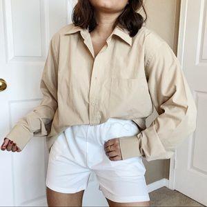 Tan Oversized Dress Shirt
